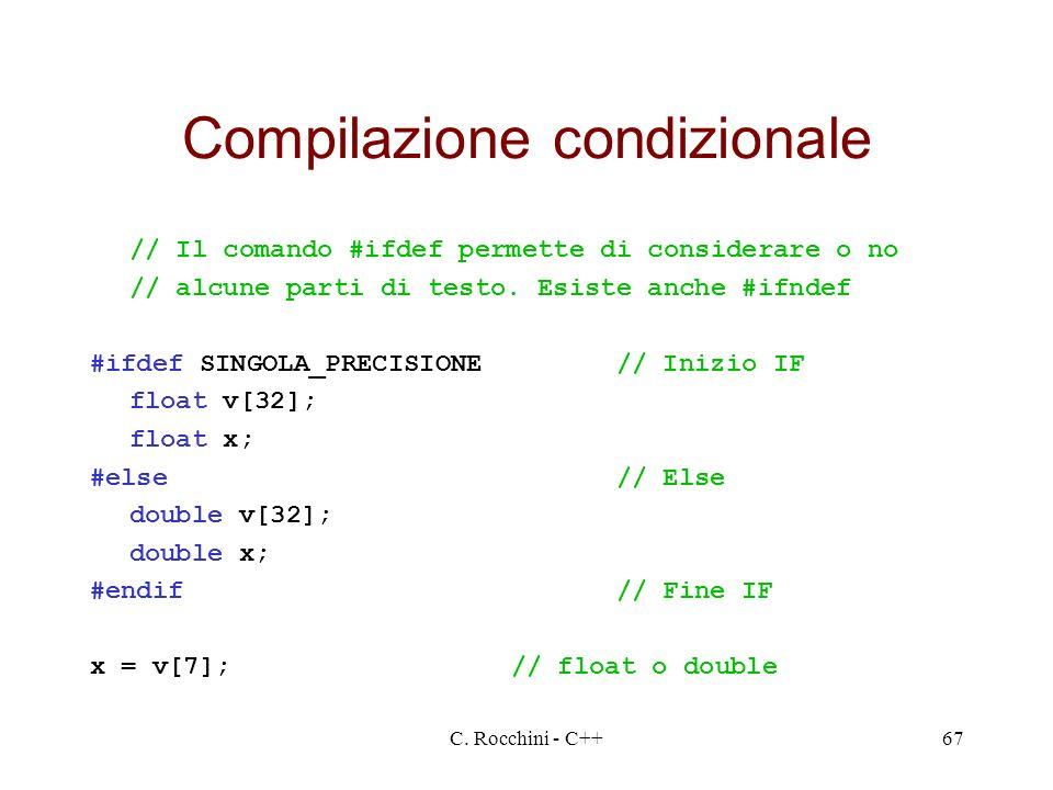 Compilazione condizionale