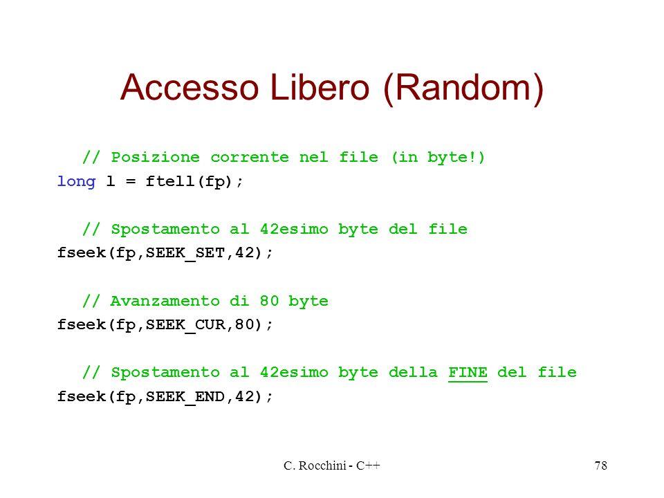 Accesso Libero (Random)