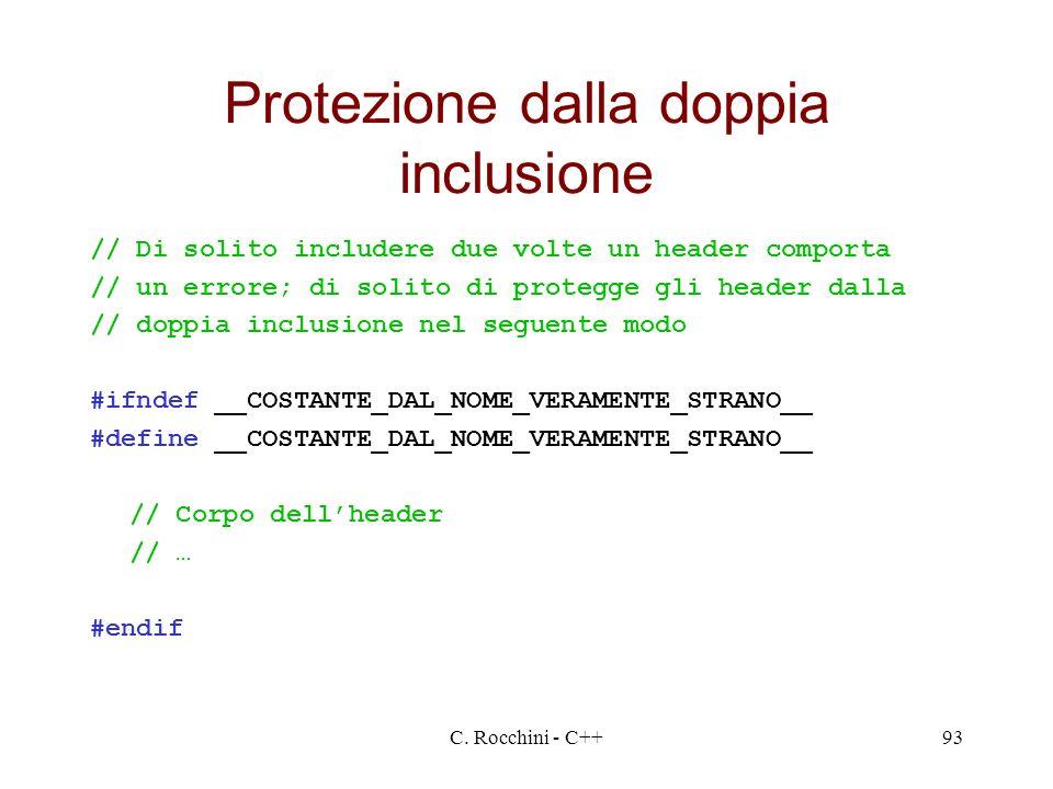 Protezione dalla doppia inclusione