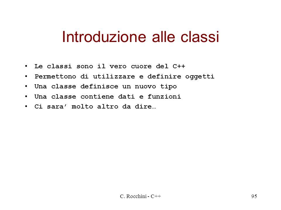Introduzione alle classi