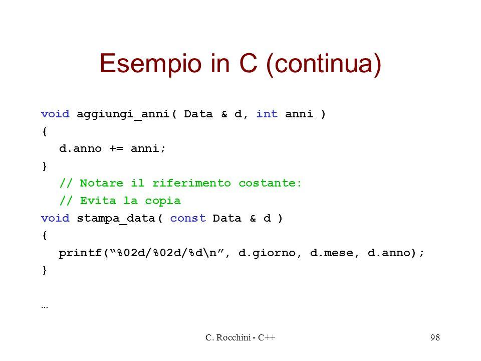 Esempio in C (continua)