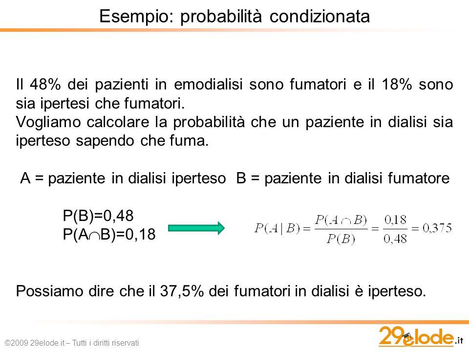 Esempio: probabilità condizionata