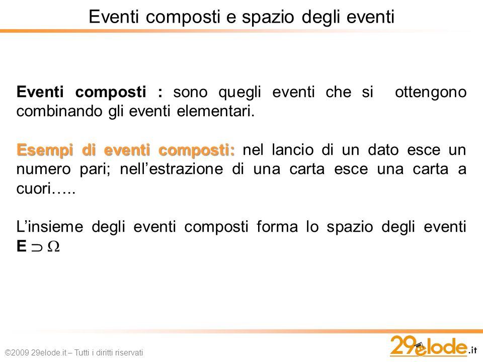 Eventi composti e spazio degli eventi