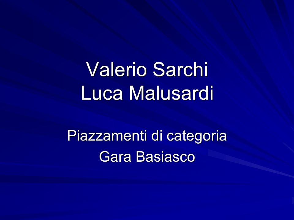 Valerio Sarchi Luca Malusardi