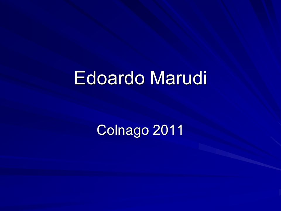 Edoardo Marudi Colnago 2011