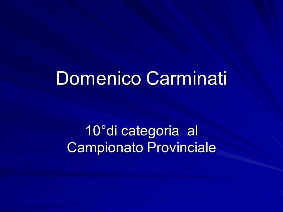 10°di categoria al Campionato Provinciale
