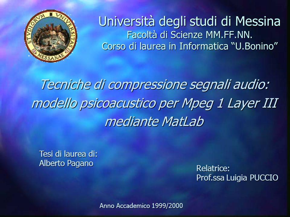 Tecniche di compressione segnali audio: