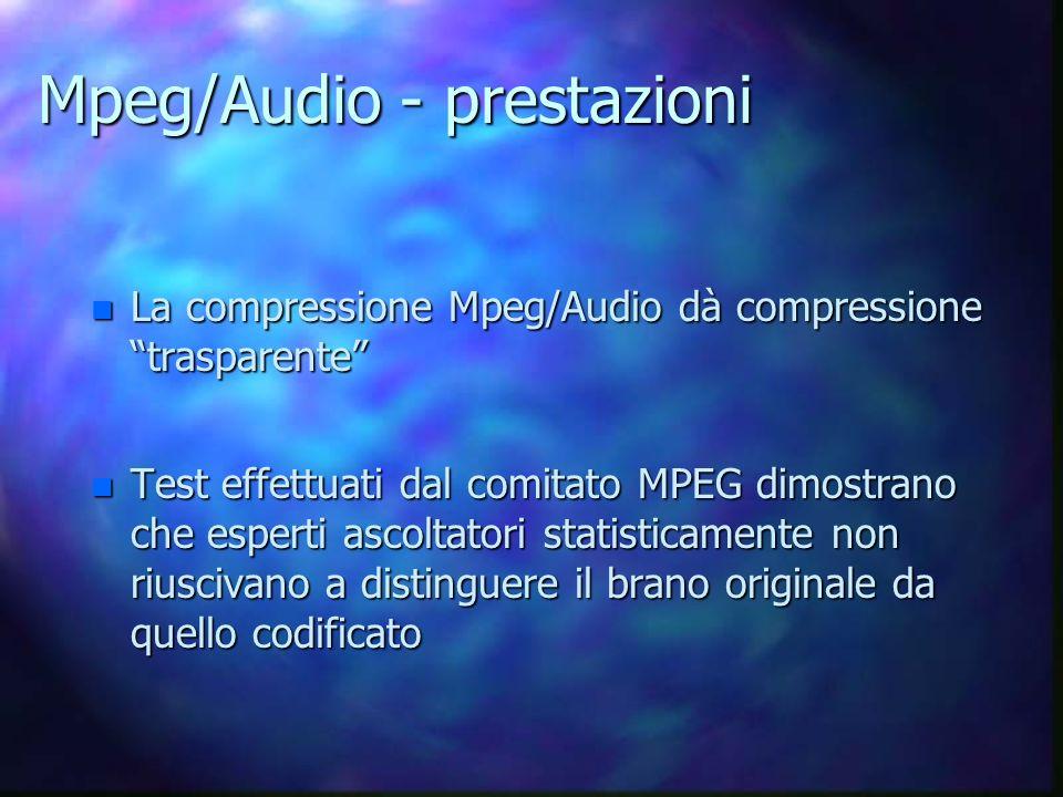 Mpeg/Audio - prestazioni