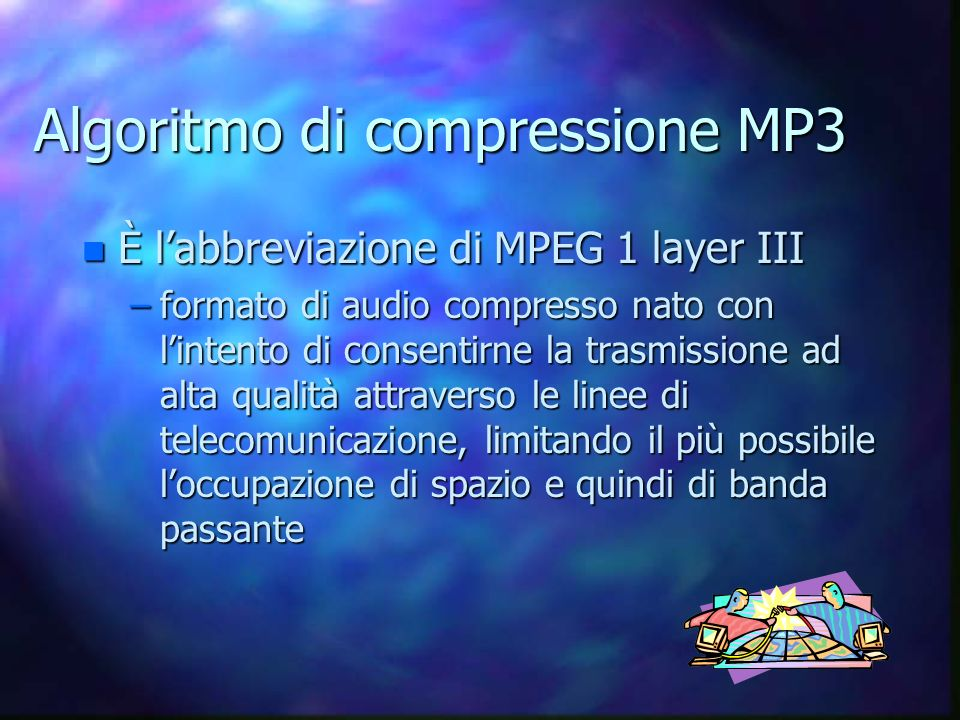 Algoritmo di compressione MP3