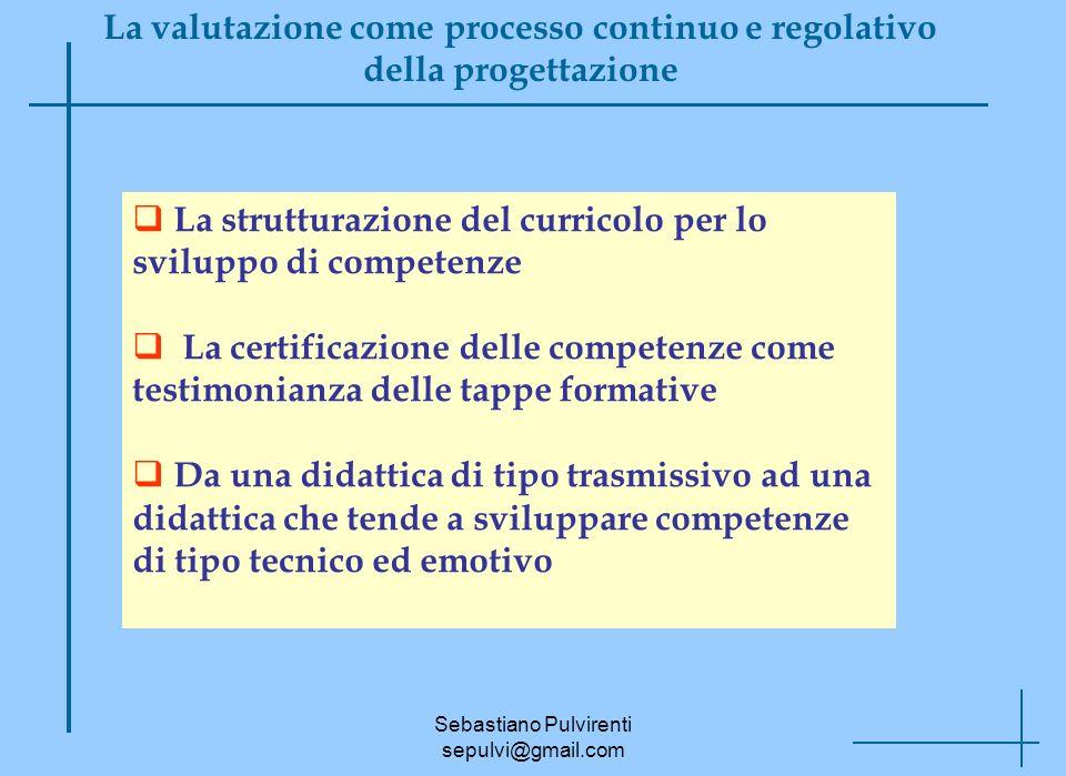 La valutazione come processo continuo e regolativo della progettazione