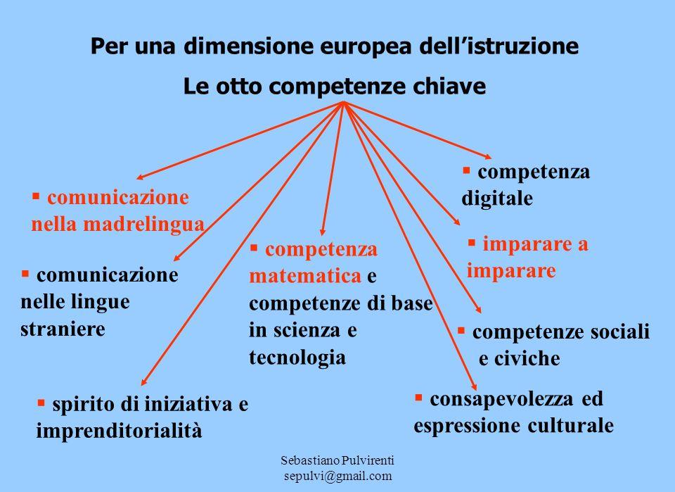 Per una dimensione europea dell'istruzione Le otto competenze chiave