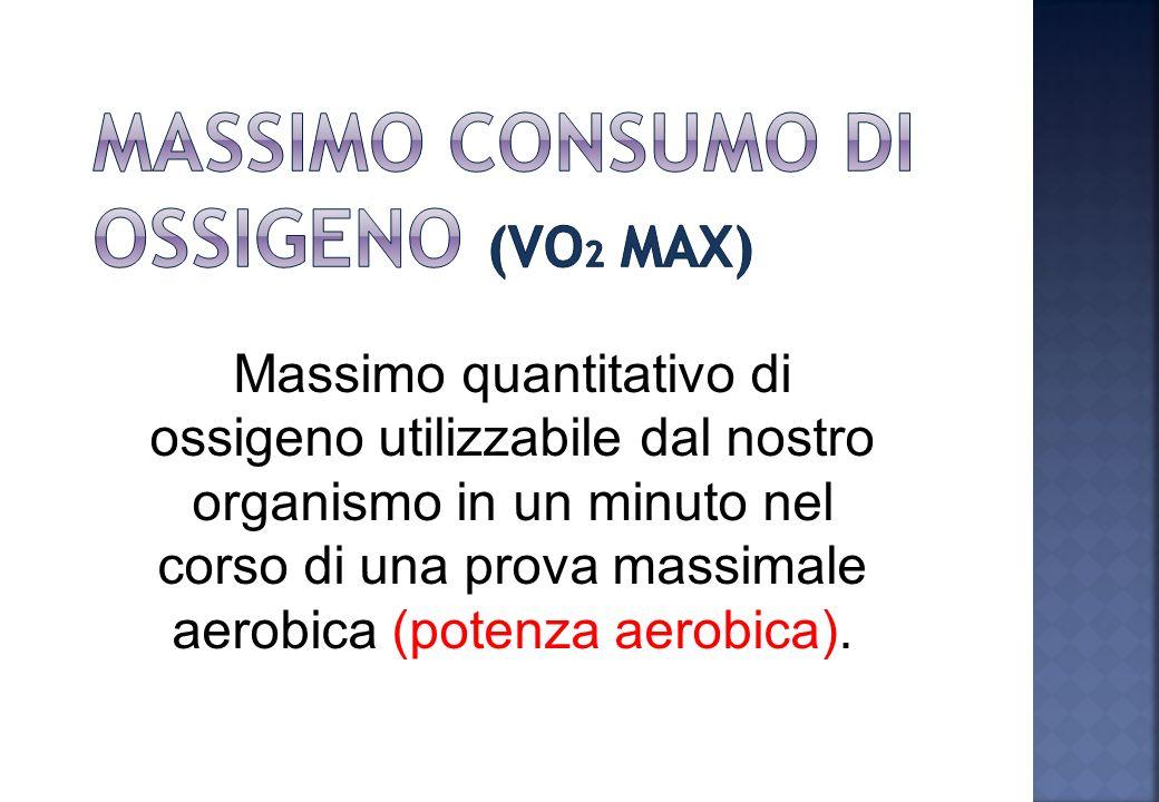 Massimo consumo di ossigeno (VO2 max)