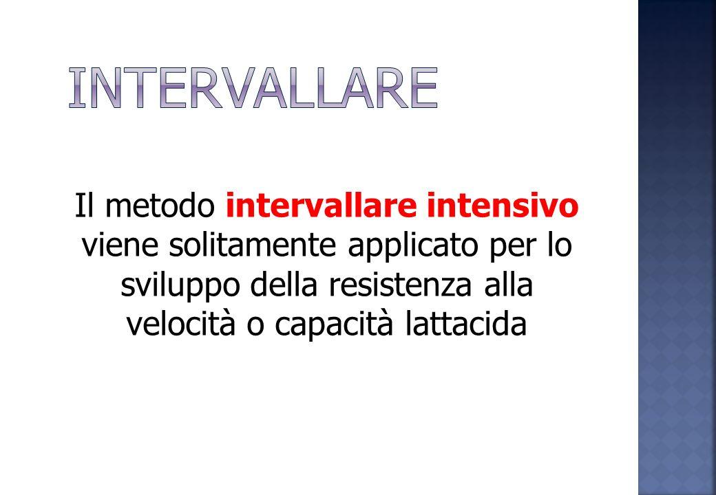 Il metodo intervallare intensivo