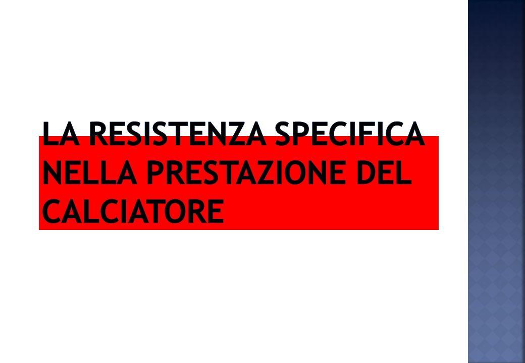 LA RESISTENZA SPECIFICA NELLA PRESTAZIONE DEL CALCIATORE