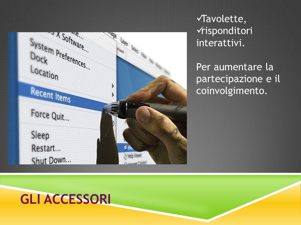 Gli accessori Tavolette, risponditori interattivi.