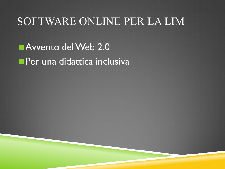 Software online per la LIM