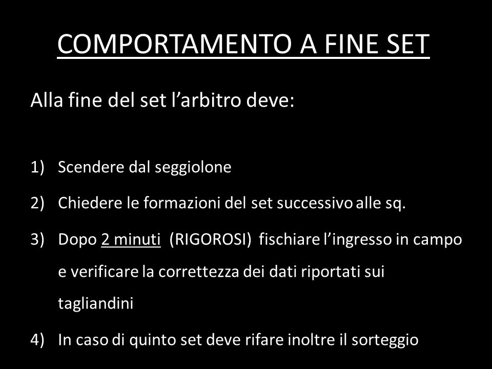 COMPORTAMENTO A FINE SET