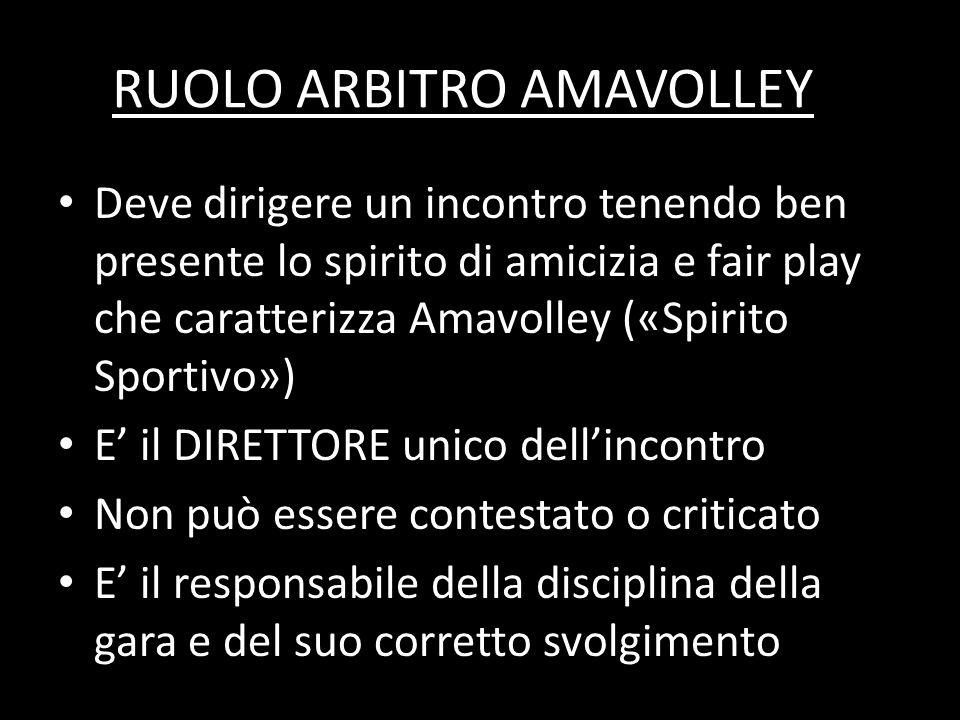 RUOLO ARBITRO AMAVOLLEY