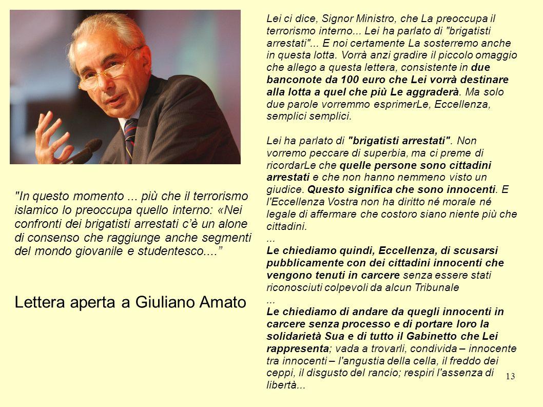 Lettera aperta a Giuliano Amato