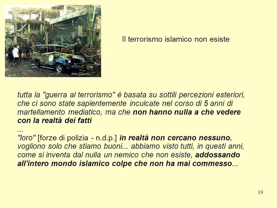Il terrorismo islamico non esiste