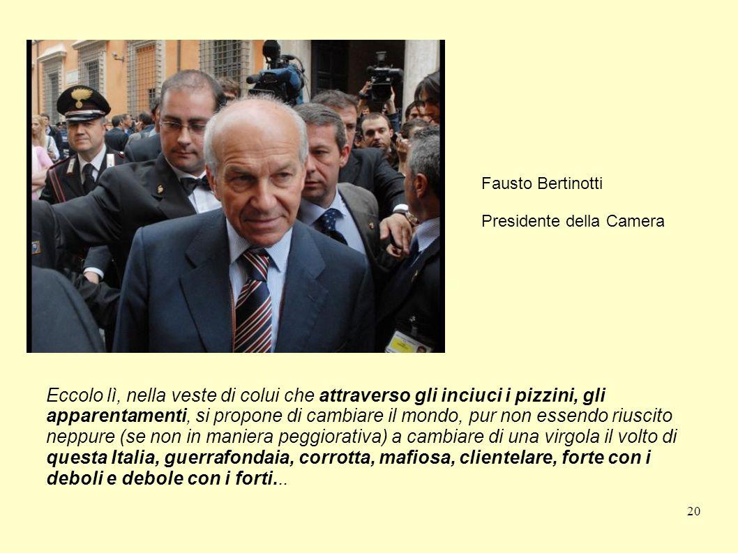 Fausto Bertinotti Presidente della Camera.