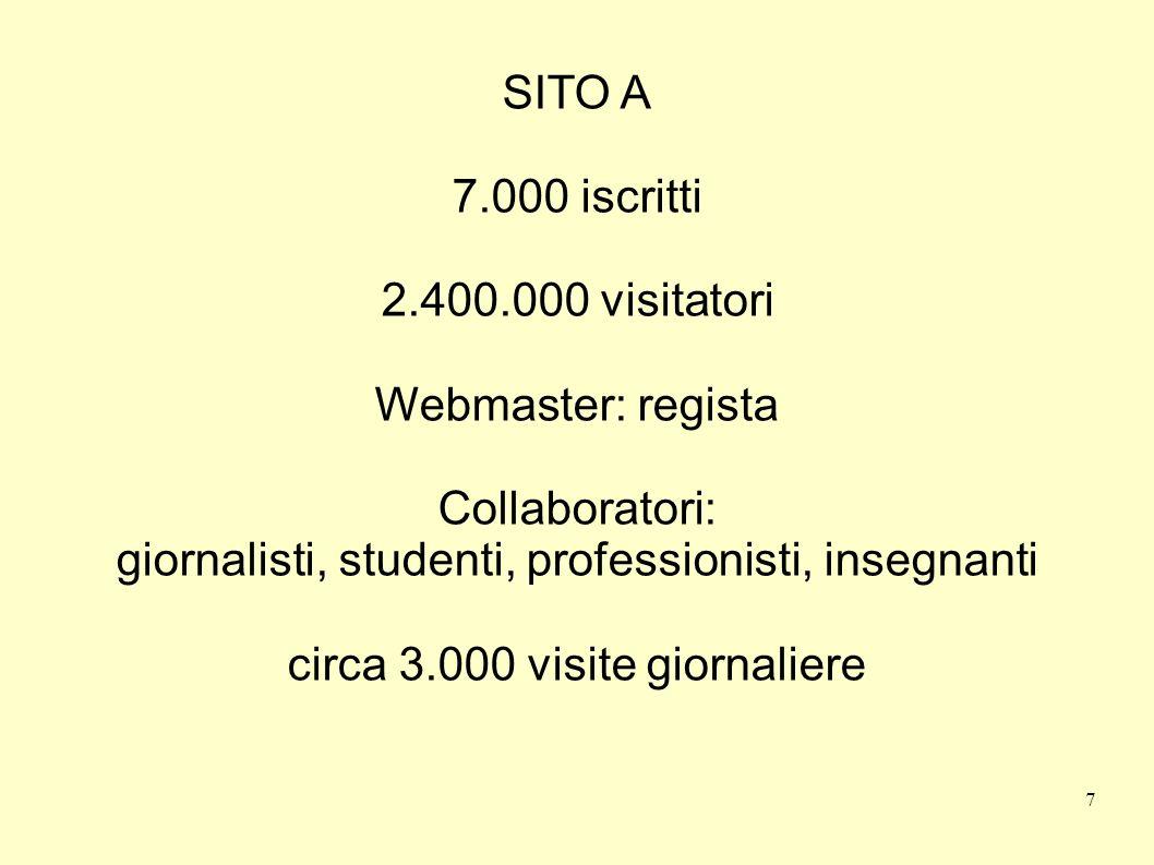 giornalisti, studenti, professionisti, insegnanti