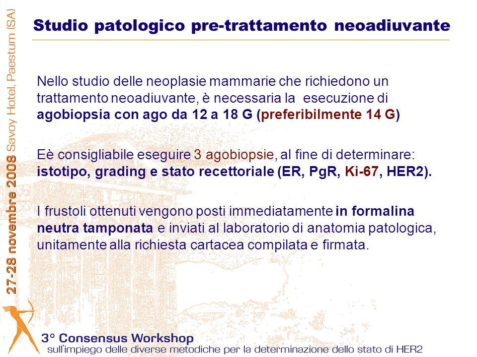 Studio patologico pre-trattamento neoadiuvante