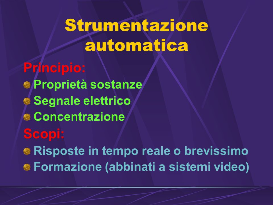 Strumentazione automatica