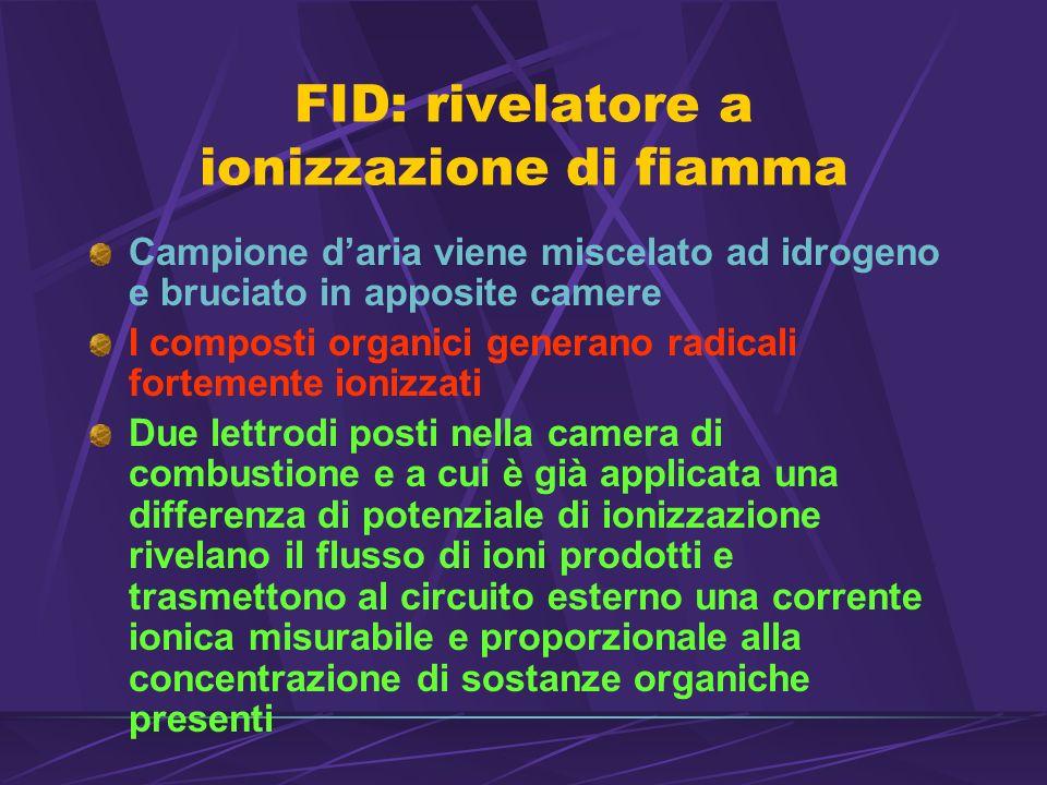 FID: rivelatore a ionizzazione di fiamma
