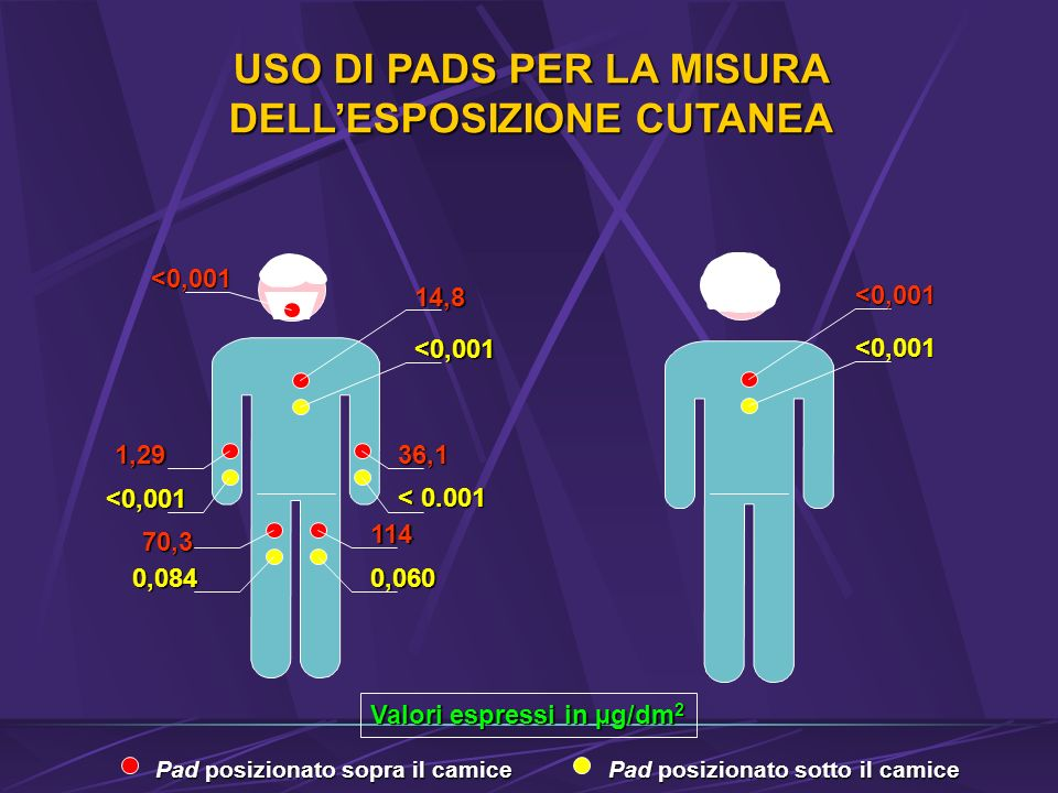 USO DI PADS PER LA MISURA DELL'ESPOSIZIONE CUTANEA