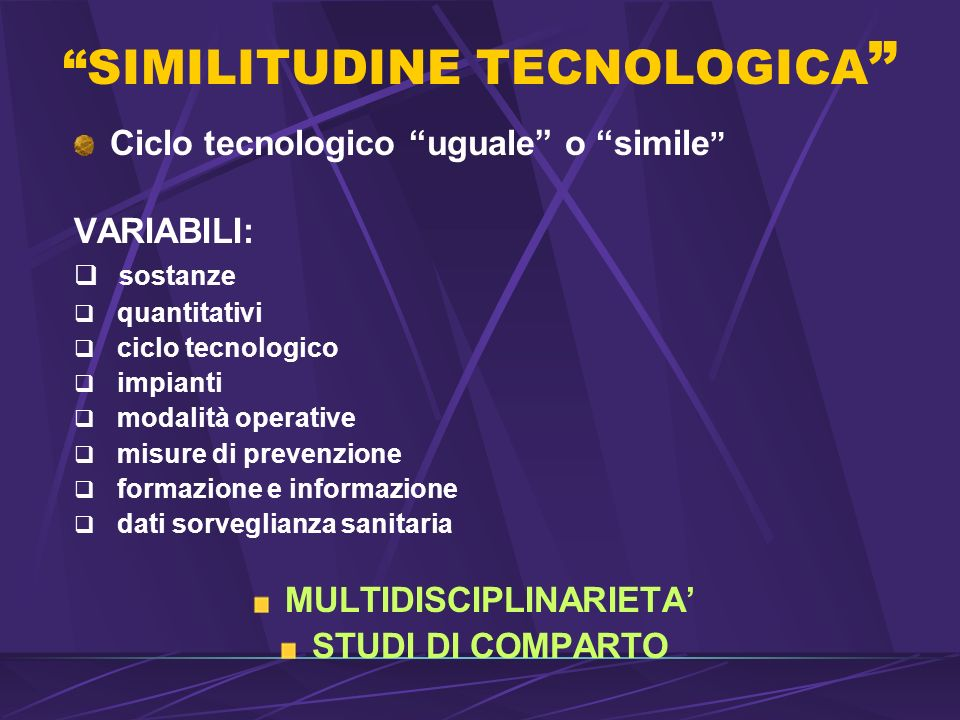 SIMILITUDINE TECNOLOGICA