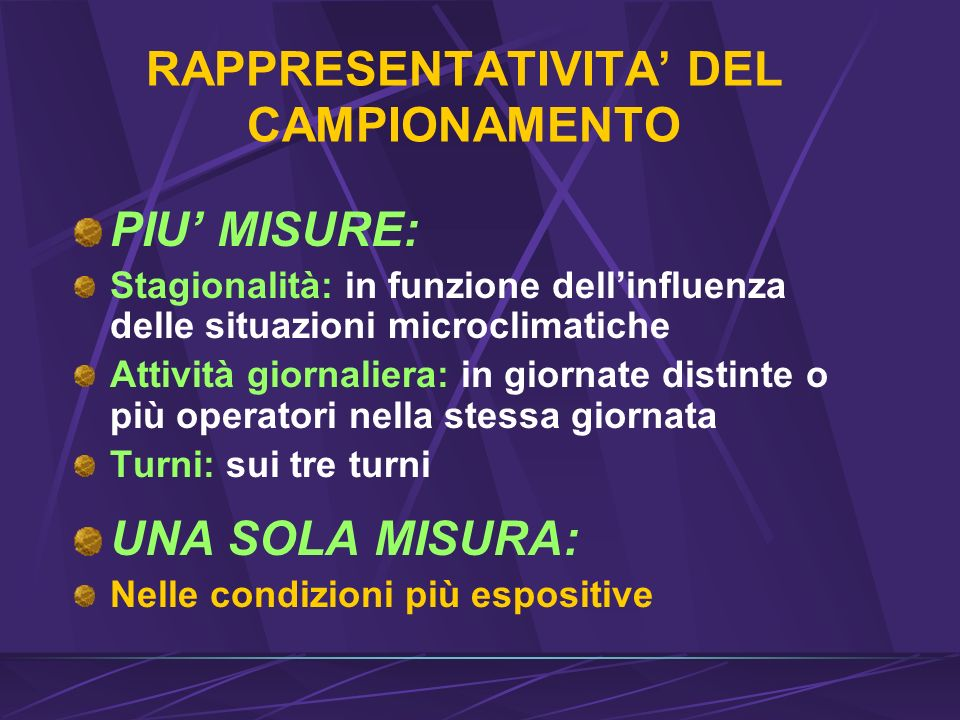 RAPPRESENTATIVITA' DEL CAMPIONAMENTO