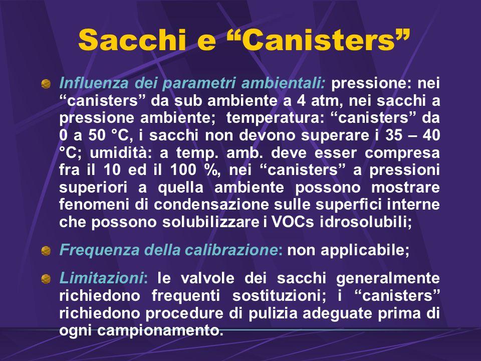 Sacchi e Canisters