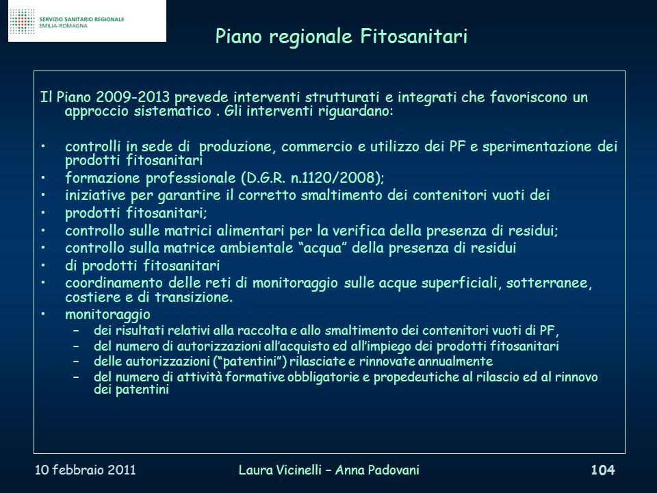 Piano regionale Fitosanitari