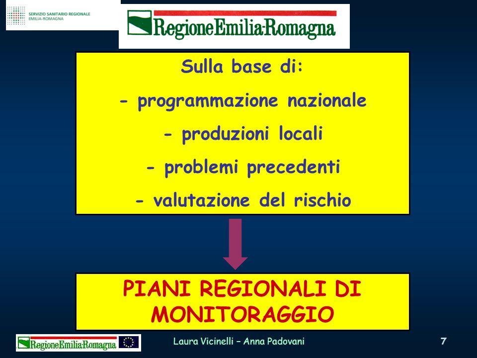 PIANI REGIONALI DI MONITORAGGIO