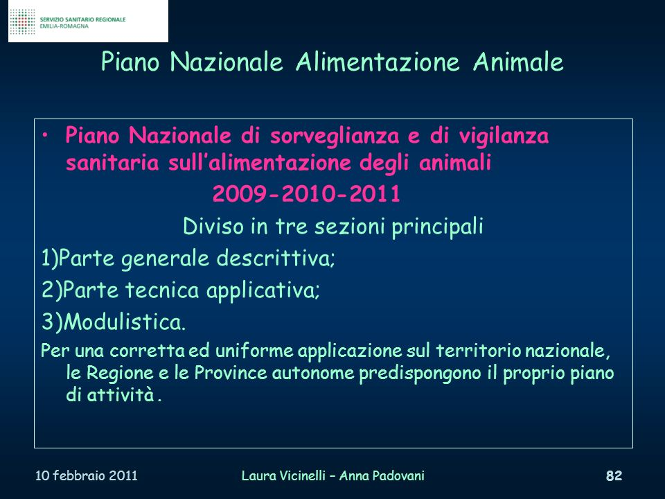 Piano Nazionale Alimentazione Animale