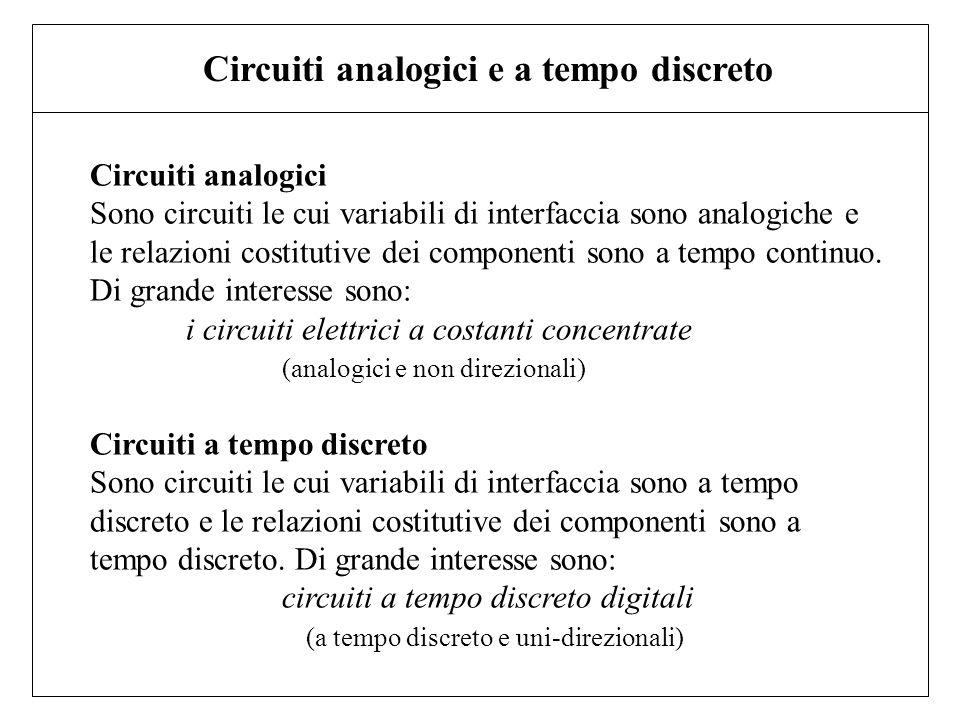 Circuiti analogici e a tempo discreto