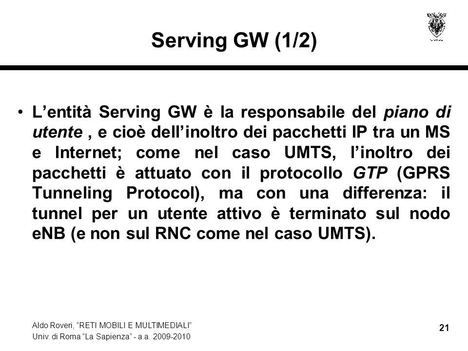 Serving GW (1/2)