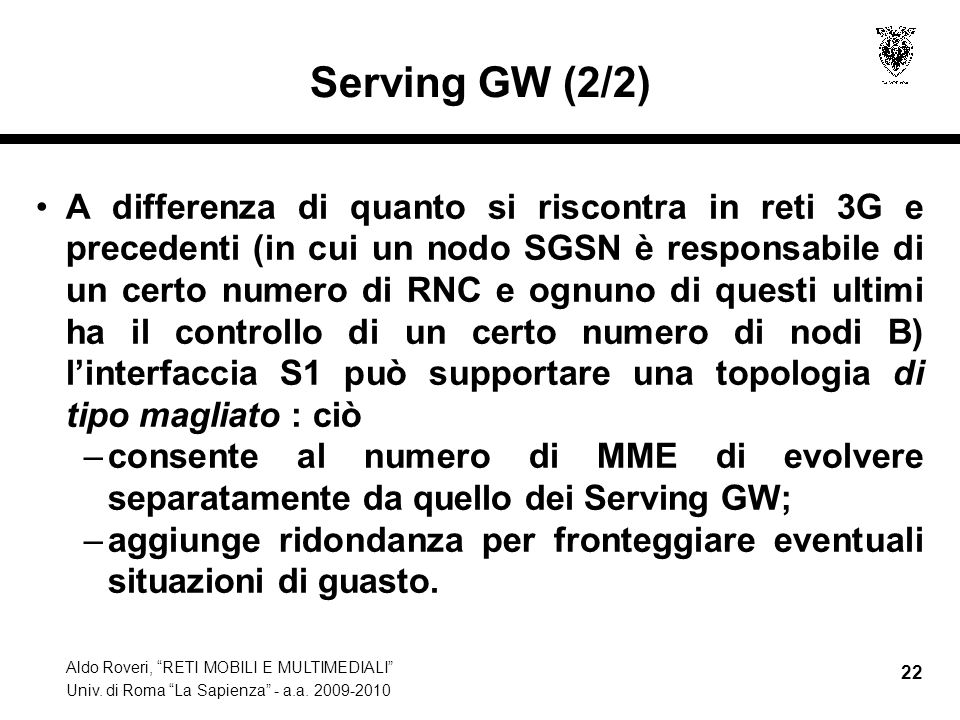 Serving GW (2/2)