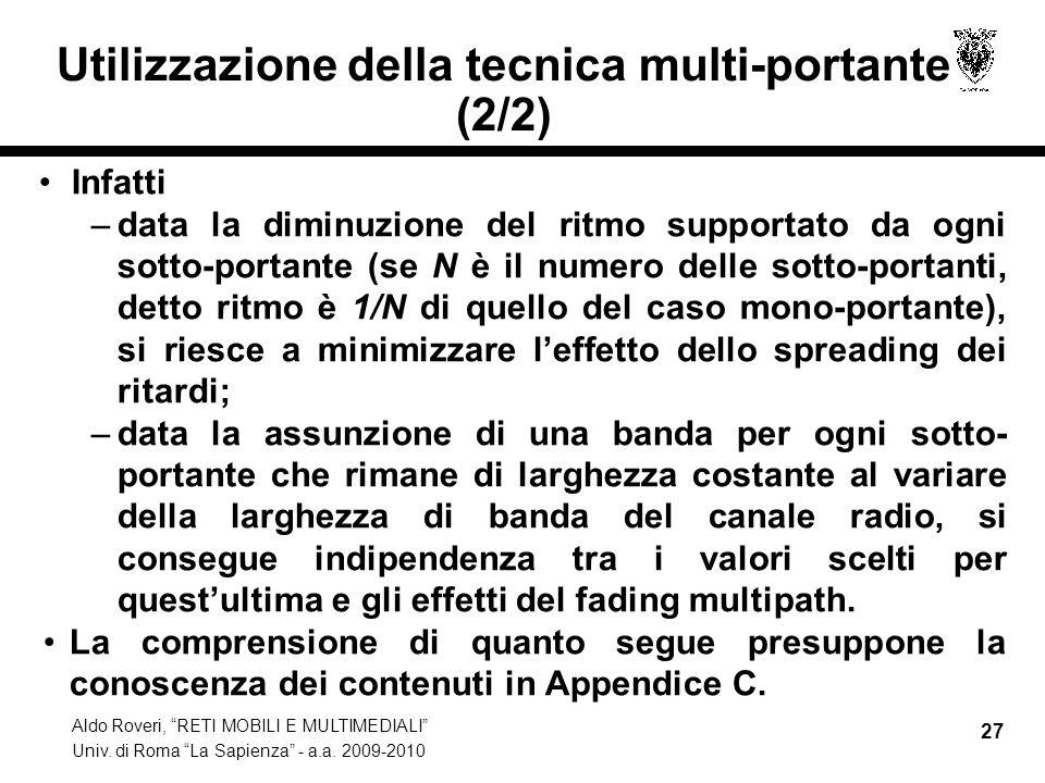 Utilizzazione della tecnica multi-portante (2/2)