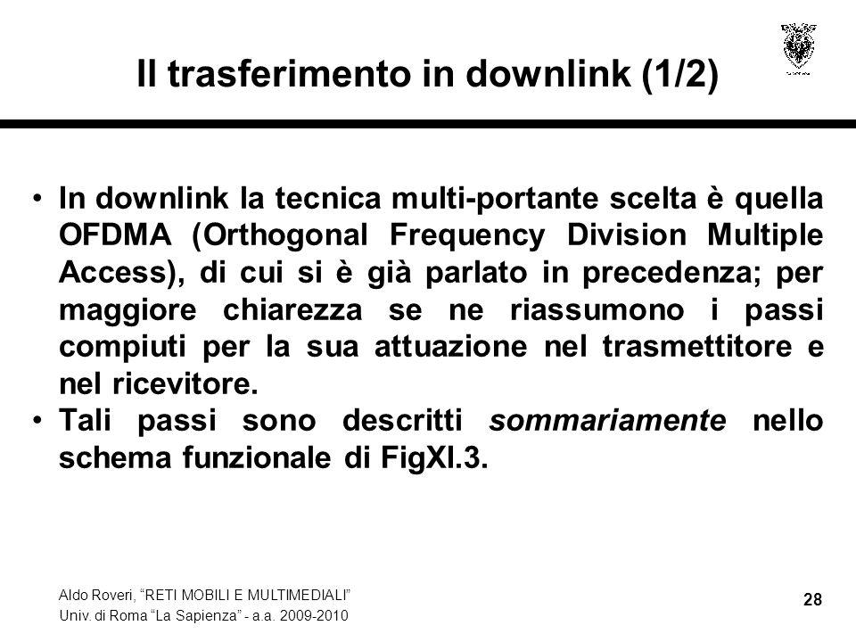 Il trasferimento in downlink (1/2)
