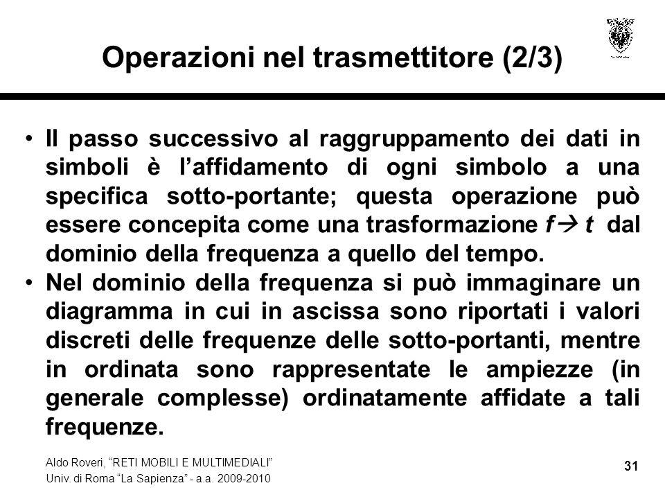 Operazioni nel trasmettitore (2/3)