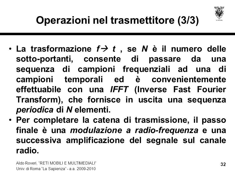 Operazioni nel trasmettitore (3/3)