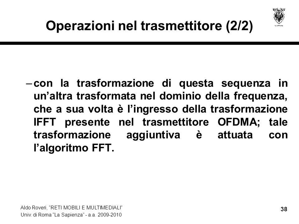 Operazioni nel trasmettitore (2/2)