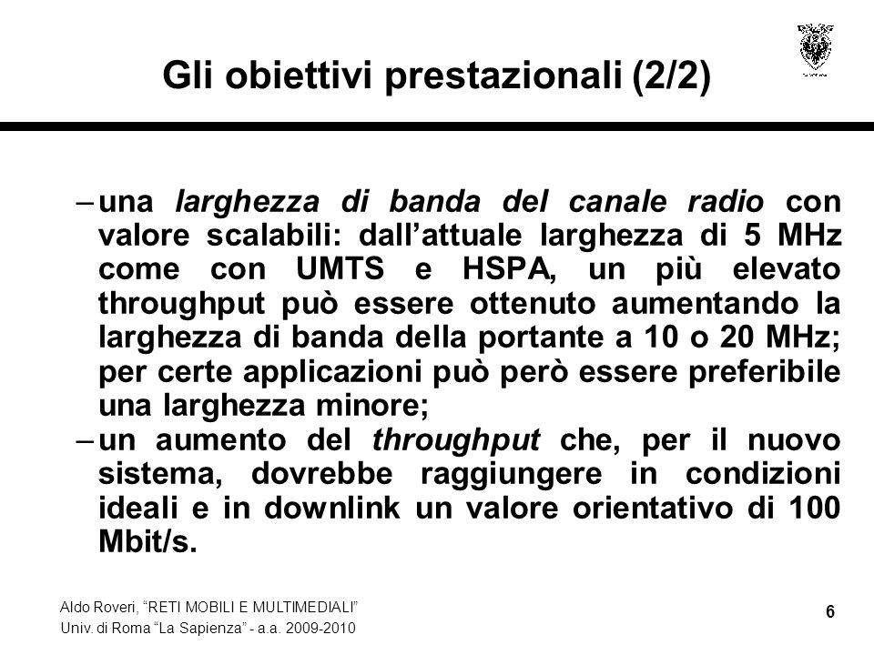 Gli obiettivi prestazionali (2/2)