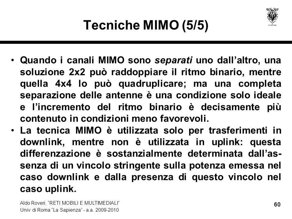 Tecniche MIMO (5/5)