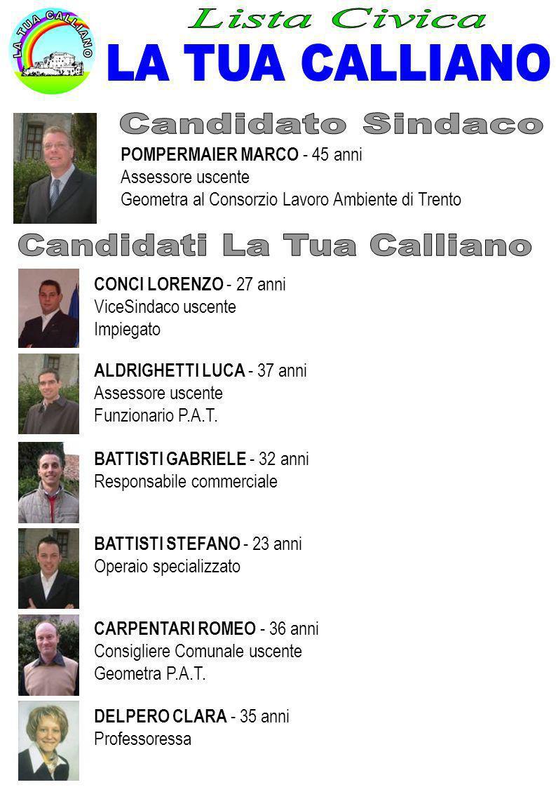 Candidati La Tua Calliano