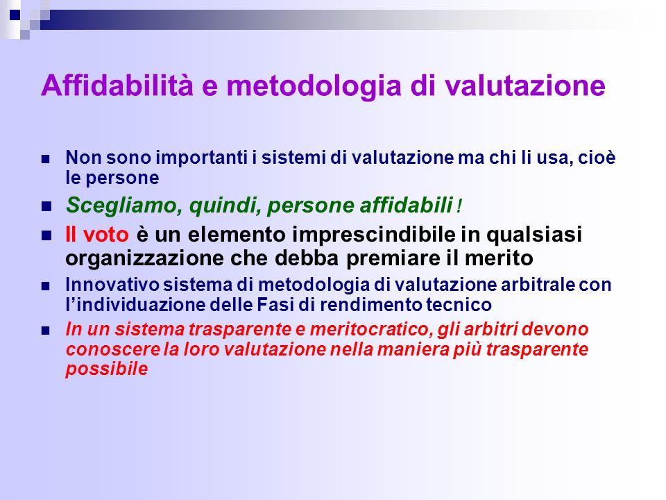 Affidabilità e metodologia di valutazione