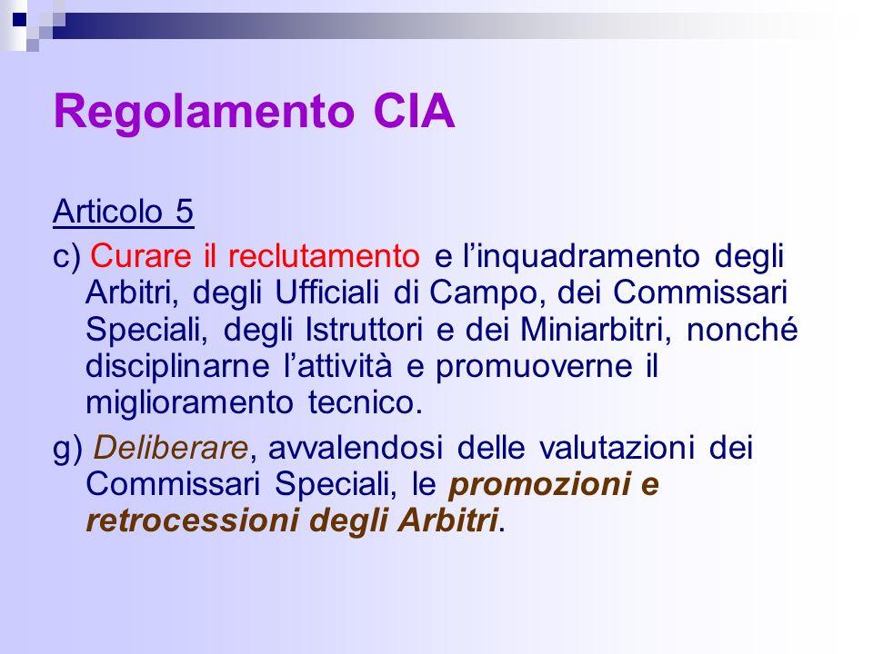 Regolamento CIA Articolo 5