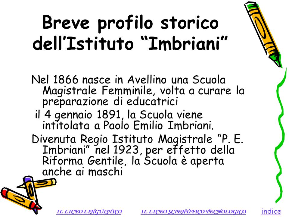 Breve profilo storico dell'Istituto Imbriani